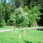 Fotografie zachycujíce cyklisty v Kyjovském údolí od J. Laštůvky