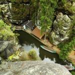 Fotografie z výšky plavby na lodičkách v soutěskách Křinice od V. Sojky