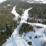 Panoramatická fotografie Skiareálu Jedlová hora od J. Krejčího
