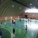 Zachycená fotografie volejbalového zápasu ve Sportlife Centrum Rumburk